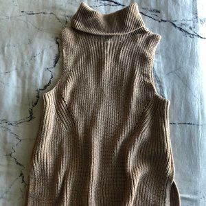 Tan Abercrombie and Fitch Sweater Tank